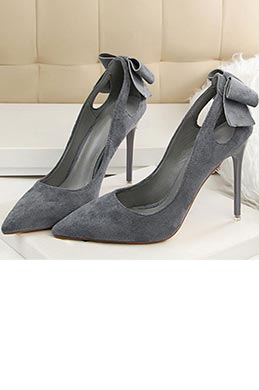 Women's Elegant Suede Closed Toe High Heel Pumps Shoes (0919023)