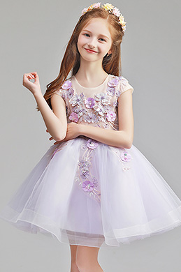 eDressit Cute Short Sleeves Wedding Flower Girl Party Dress (28195006)