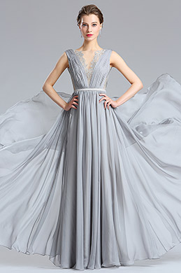 eDressit Pretty Grey Long Fashion Designer Dress (00182608)