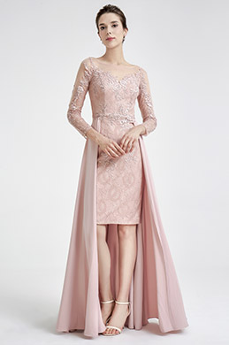 eDressit Pink Elegant Lace Detachable Lady Evening Dress (02190846)