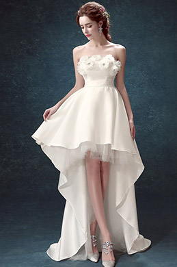 eDressit White Strapless Corset Back long Wedding Bridal Dress (35193307)