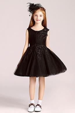 eDressit Robe de Princesse Court Noire Pour Filles (28194300)
