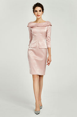 eDressit Pink 3/4 Sleeves Mother of the Bride Dress (26191101)