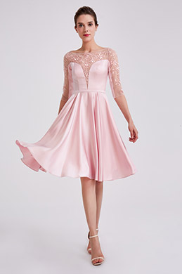 eDressit Cute Pink Sleeves Short Cocktail Party Dress (04190301)