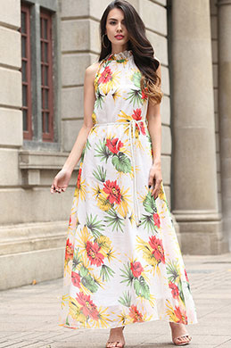 eDressit Sleeveless Chiffon Prined Holiday Dress (36191968)