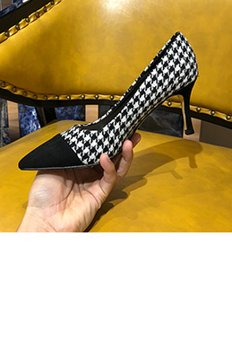 eDressit Women Plaid Pattern Toe Closed High Heels Shoes (0919047)