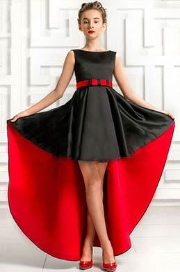 eDressit Black / Red Sleeveless Wedding Flower Girl Dress (27195900)