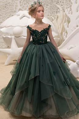 eDressit Nouvelle Robe Longue Empire Verte Pour Fillettes  (27195204)