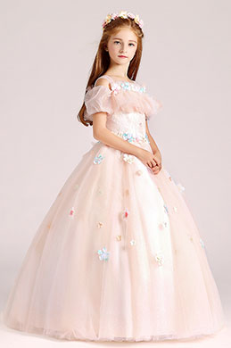 eDressit Long Light Pink Flower Girl Dress (27190701)