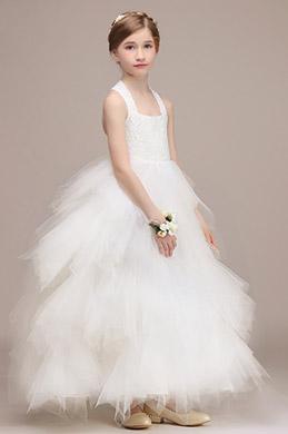 eDressit Robe de Demoiselle d'Honneur Multicouche Blanche (27193907)