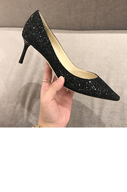 Women Fashion Sequins Toe Closed High Heels Shoes (0919103)