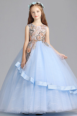 eDressit Princess Blue Children Wedding Flower Girl Dress (27196905)