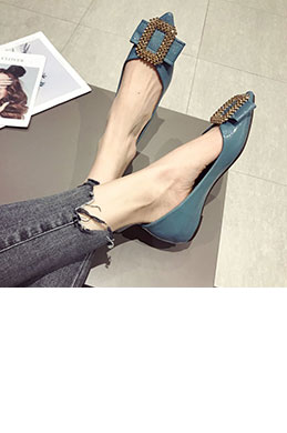 Women Fashion Toe Closed Pointed Flat Shoes (0919091)