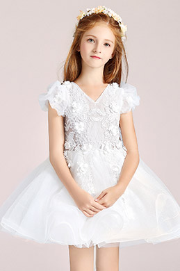 eDressit Short Sleeves Flower Girl Wedding Party Dress (28197307)