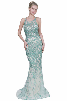 eDressit Sexy Green Halter Beaded Long Ball Evening Dress (02192104)