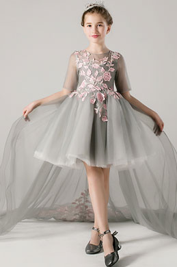 eDressit Princess Grey Children Wedding Flower Girl Dress (28198108)
