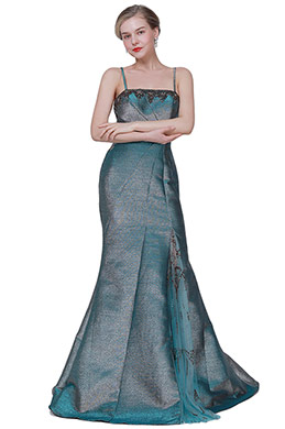 eDressit NEW Green Spaghetti Sparkle Party Ball Evening Dress (00193304)
