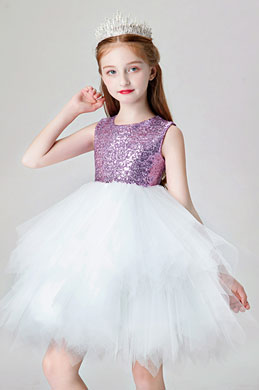 eDressit Lovely Purple Sequin Wedding Flower Girl Dress (28202106)