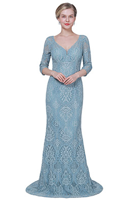 eDressit New V-Cut Sleeves Lace Applique Mother Evenig Dress (26192505)