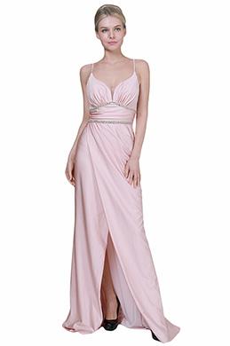 eDressit New Pink Spaghetti V-Cut Slit Party Evening Dress (00192301)