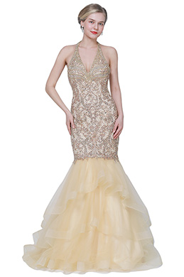 eDressit Beaded Halter Open Back Mermaid Party Prom Dress (02193814)