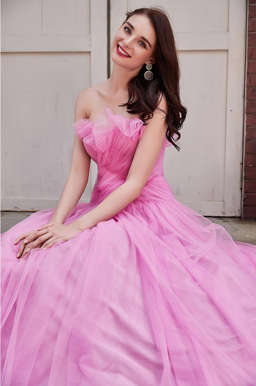 eDressit Newest Hot Pink Corset Prom Ball Party Dress (02200201)