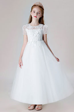 eDressit Short Sleeves Children Wedding Flower Girl Dress (27206007)