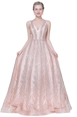 eDressit Pink V-Cut Gorgeous Beaded Prom Party Evening Dress (02194201)
