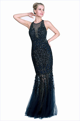 eDressit New BlueSleeveless Beaded Party Formal Dress (02191505)