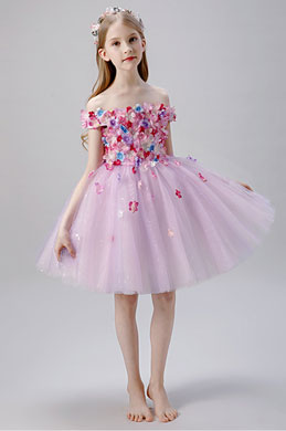 eDressit Dream Pink Off Shoulder Flower Girl Dress (28203801)