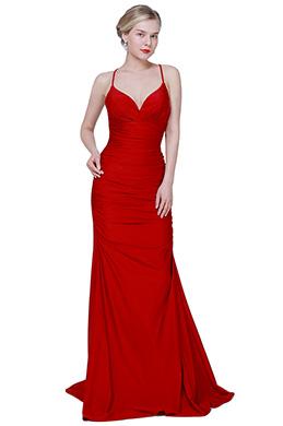 eDressit New Red Spaghetti V-Cut Long Elegant Party Evening Dress (00192602)