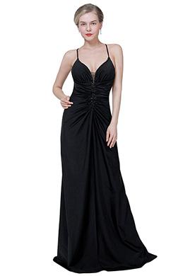 eDressit New Sexy Black Halter Deep V-Cut Party Ball Dress (00192700)