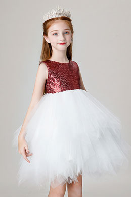 eDressit Lovely Bordeaux Sequin Wedding Flower Girl Dress (28202117)