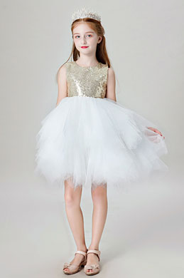 eDressit Lovely Gold Sequin Wedding Flower Girl Dress (28202124)