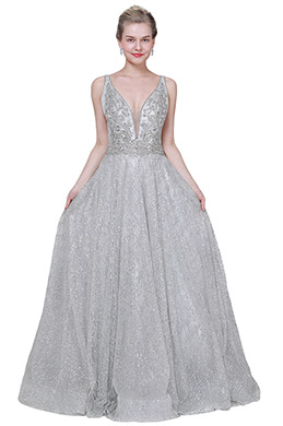 eDressit New Gorgeous V-Cut Neckline Beaded Party Prom Gown (02193608)