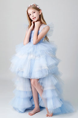 eDressit Princess Blue Multi-layer Flower Girl Dress (28200705)