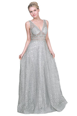 eDressit Sexy Silver Sequins Fabric Long Party Evening Dress (00192208)