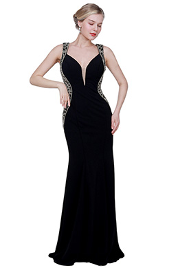 eDressit New Stylish Deep V-Cut  Beads Decoration Party Ball Dress (02193500)