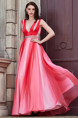 eDressit New V-Cut Straps Gradient Colour Party Bridesmaid Dress (00202256)