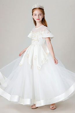 eDressit Princess Short Sleeves Flower Girl Dress (27205407)