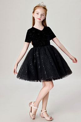 eDressit Princess Black Short Wedding Flower Girl Dress (28202700)