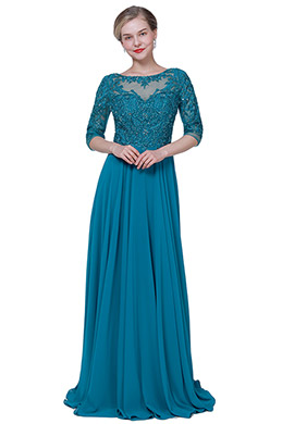 eDressit New Peacock Blue Formal Mother of the Bride Dress (26191805)