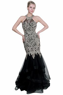 eDressit Sexy Halter Gold Lace Open Back Ball Evening Dress (02193724)
