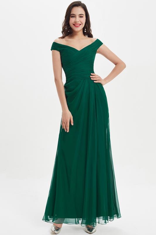 eDressit Off Shoulder Dark Green Evening Gown Bridesmaid Dress (07210204)