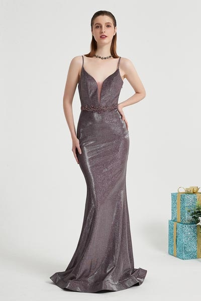 eDressit Purple Spaghetti Sparkle Elegant Party Prom Dress (02202306)