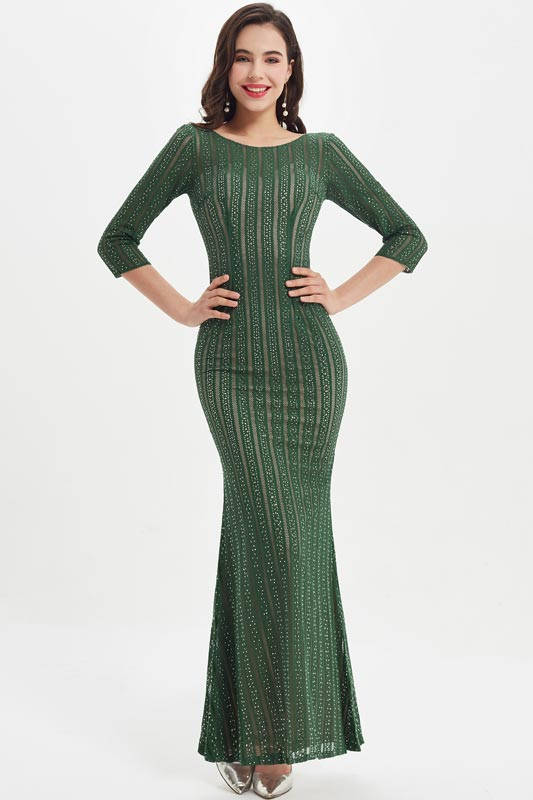 eDressit Green Full Lace Sleeves Mother of the Bride Dress (07219004A)