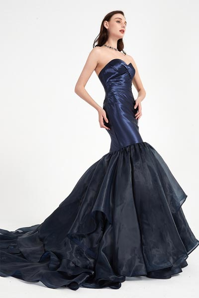 Blue Party Dress with Sweethear Corset  Prom Gown-eDressit (01200405)