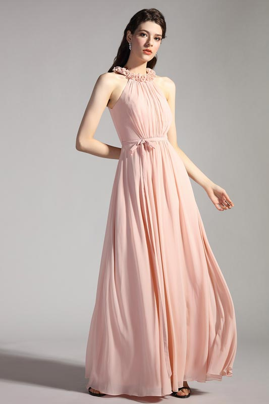eDressit Lovely Pink Halter A-Line Bridesmaid Party Dress (07200746)