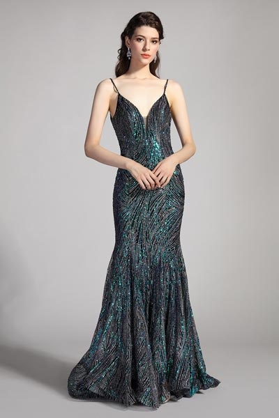 eDressit Spaghetti Beaded Mermaid Evening Party Dress (02206768)