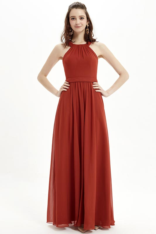 eDresit Sexy Scoop Dusty Red Elegant Bridesmaid Party Dress (07214902)